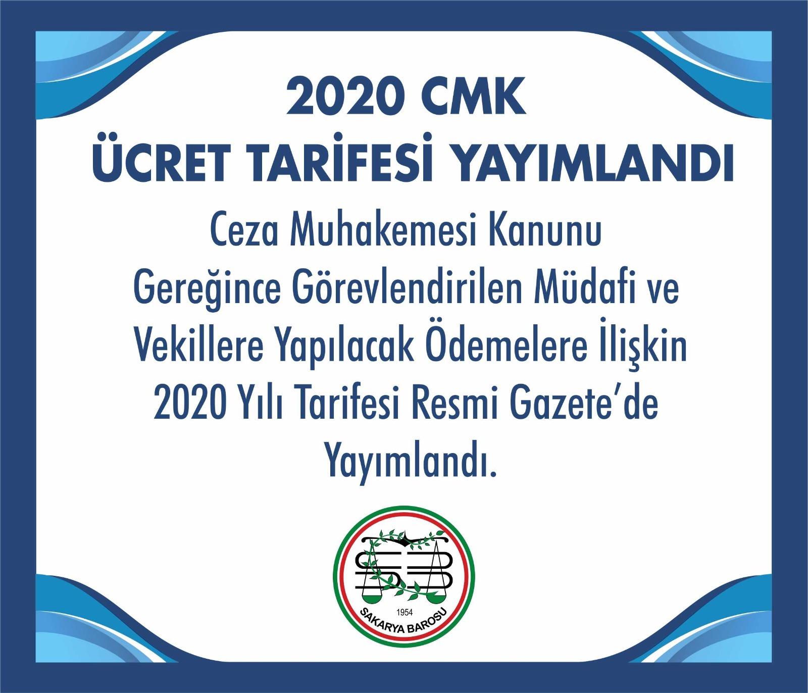2020 cmk ucret tarifesi yayimlandi sakarya barosu